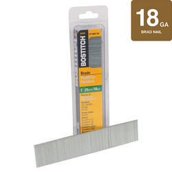 "Bostitch® 1"" 18-Gauge Brown Brad Nails - 3.000 ct."