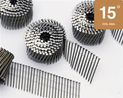 """Bostitch® 3"""" x .120 15° Brite Finish Smooth Shank Coil Framing Nails - 2,700 ct."""