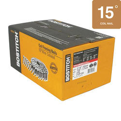 "Bostitch® 3-1/4"" x .120 15° Brite Finish Smooth Shank Coil Framing Nails - 2,700 ct."