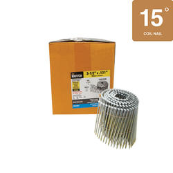 "Bostitch® 3-1/2"" x .131 15° Wire Coil Smooth Shank HDG Framing Nails - 2,700 ct."