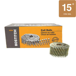 "Bostitch® 2-1/2"" x .113 15° Wire Coil Ring Shank HDG Framing Nails - 2,700 ct."