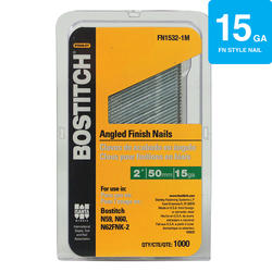 "Bostitch® 2"" 15-Gauge Brite Finish ""FN"" Angled Finish Nails - 1,000 ct."