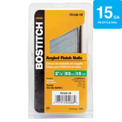 "Bostitch® 2-1/2"" 15-Gauge Brite Finish ""FN"" Angled Finish Nail - 1,000 ct."
