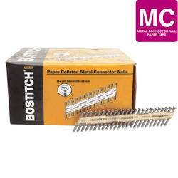 "Bostitch® 1-1/2"" x .148 35° Paper Tape Smooth Shank Heat-Treated Metal Connector Nails - 3,000 ct."
