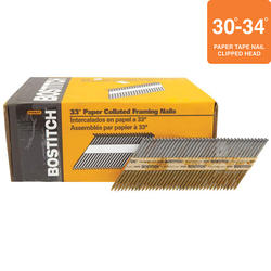 "Bostitch® 3"" x .131 33° Brite Finish Smooth Shank Clipped Head Framing Nails - 3,000 ct."