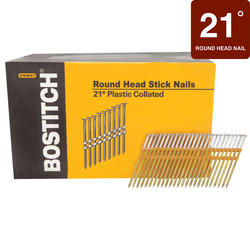 "Bostitch® 3-1/2"" x .131 21° HDG Smooth Shank Full Round Head Framing Nails - 4,000 ct."