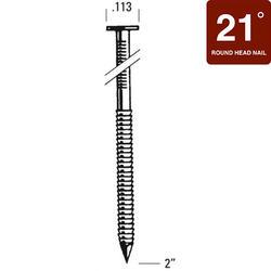"Bostitch® 2"" x .113 21° HDG Ring Shank Full Round Head Framing Nails - 6,000 ct."