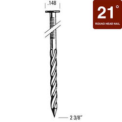 "Bostitch® 2-3/8"" x .148 21° HDG Screw Shank Full Round Head Framing Nails - 4,000 ct."