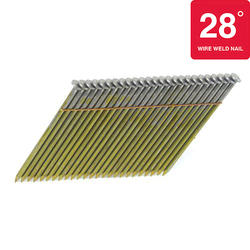"""Bostitch® 3"""" x .120 28° Brite Finish Smooth Shank Wire Collated Full-Round Head Framing Nails - 2,000 ct."""