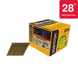 "Bostitch® 3-1/4"" x .120 28° HDG Smooth Shank Wire Collated Full-Round Framing Nails - 2,000 ct."