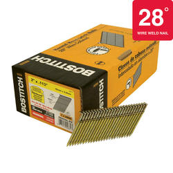 "Bostitch® 2"" x .113 28° HDG Ring Shank Full Round Head Framing Nails - 2,000 ct."