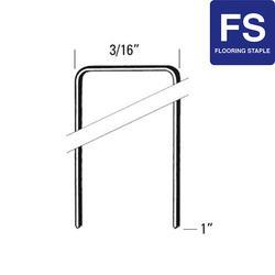 "Bostitch® 3/16"" Crown x 1"" Leg 20-Gauge Flooring Staples - 5,000 ct."