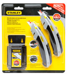 2-Pack Utility Knives with 100-Pack Blades