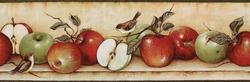 Apples & Birds Border