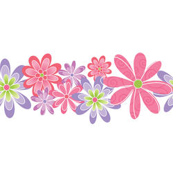 Contemporary Floral Die Cut Border