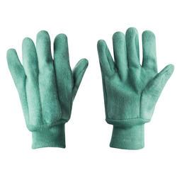 Green Fleece Gloves