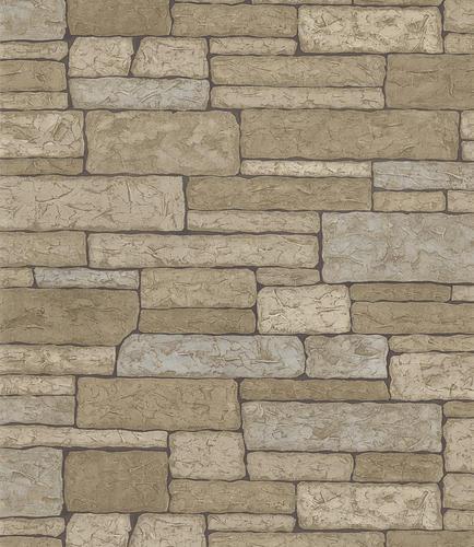 stone brick wallpaper roll at menards