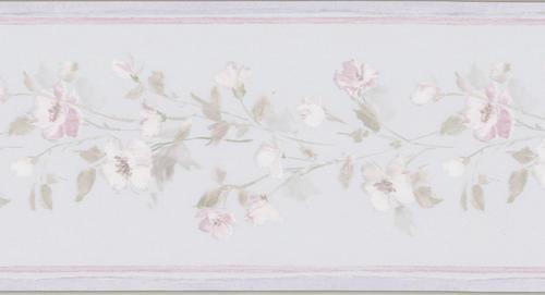 Lavender floral wallpaper border at menards - Paintable wallpaper menards ...
