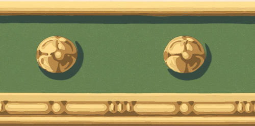 Green decorative wallpaper border at menards - Paintable wallpaper menards ...