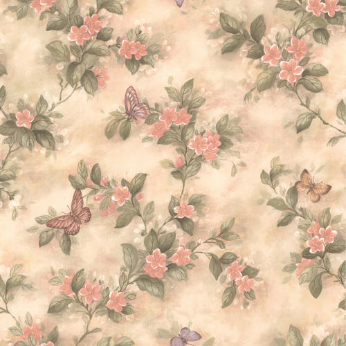 pink butterfly and floral trail wallpaper at menards