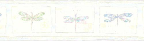 blue dragonfly wallpaper border at menards