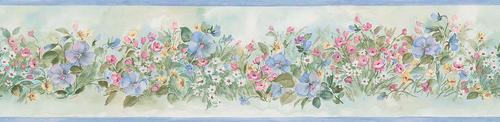 Blue floral wallpaper border at menards - Paintable wallpaper menards ...