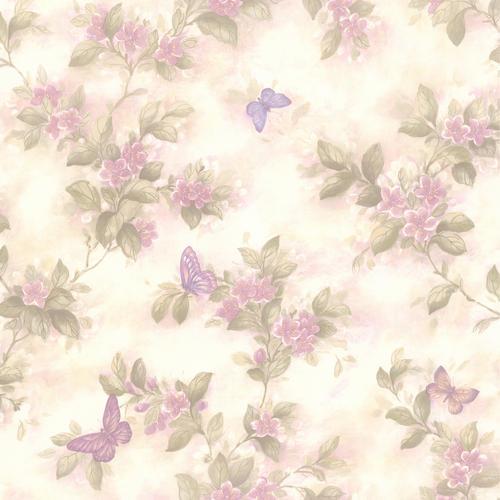 violet butterfly floral wallpaper at menards