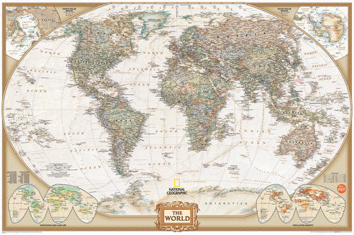 National geographic world dry erase map at menards for Dry erase world map wall mural