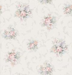 Floral Print Scroll Wallpaper Roll