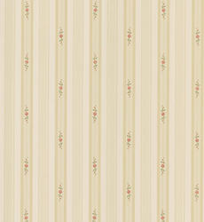 Stripe Floral Pendant Wallpaper Roll