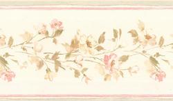 Blush Floral Wallpaper Border