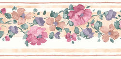 Magenta Floral Wallpaper Border