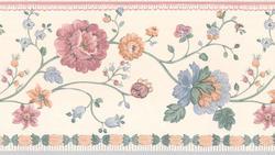Blue Floral Wallpaper Border