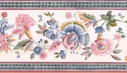 Magenta Floral Trail Wallpaper Border