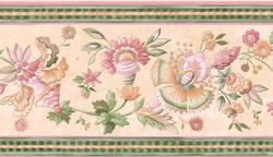 Pink Floral Trail Wallpaper Border