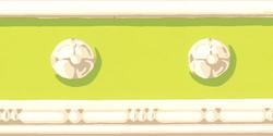 Light Green Decorative Wallpaper Border