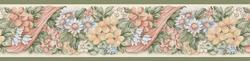 Green Floral Wallpaper Border