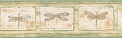 Green Dragonfly Wallpaper Border