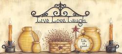 Beige Live Love Laugh Wallpaper Border