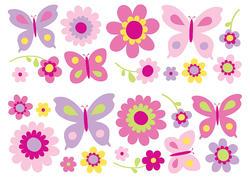 Flowers & Butterflies - Stikarounds