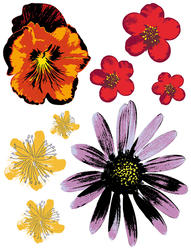 Painted Flowers Wall Stickers