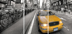 Yellow Taxi Panoramic Wall Stickers