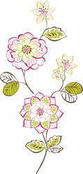 Des Fleurs Large Wall Art Kit Wall Decal