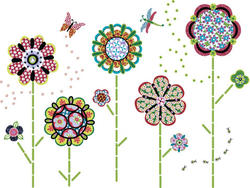 Flower Power Peel and Stick WallPops Kit Decal