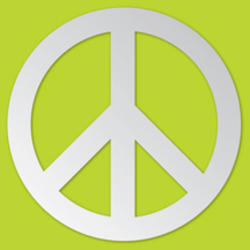 Peace Sign Peel and Stick Mirror Art Decal
