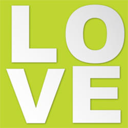 Love Peel and Stick Mirror Art Decal