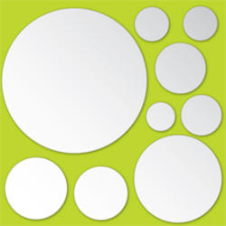 Dots Peel and Stick Mirror Art Decal