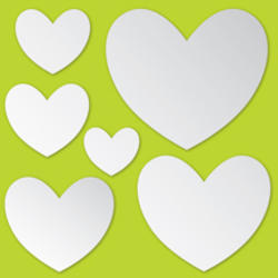 Hearts Peel and Stick Mirror Art Decal