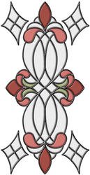 """Brewster Home Fashions Rose Vineyard Self-Stick Stained-Glass Applique 9"""" x 17"""""""
