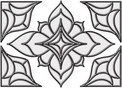 """Brewster Home Fashions Clear Alden Self-Stick Stained-Glass Applique 10.5"""" x 7.7"""""""